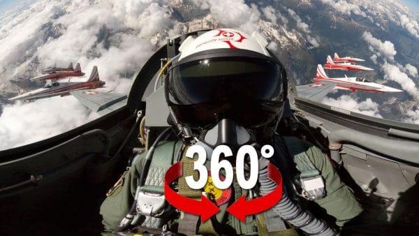 دانلود فیلم 360 درجه واقعیت مجازی کابین خلبان هواپیمای جنگنده
