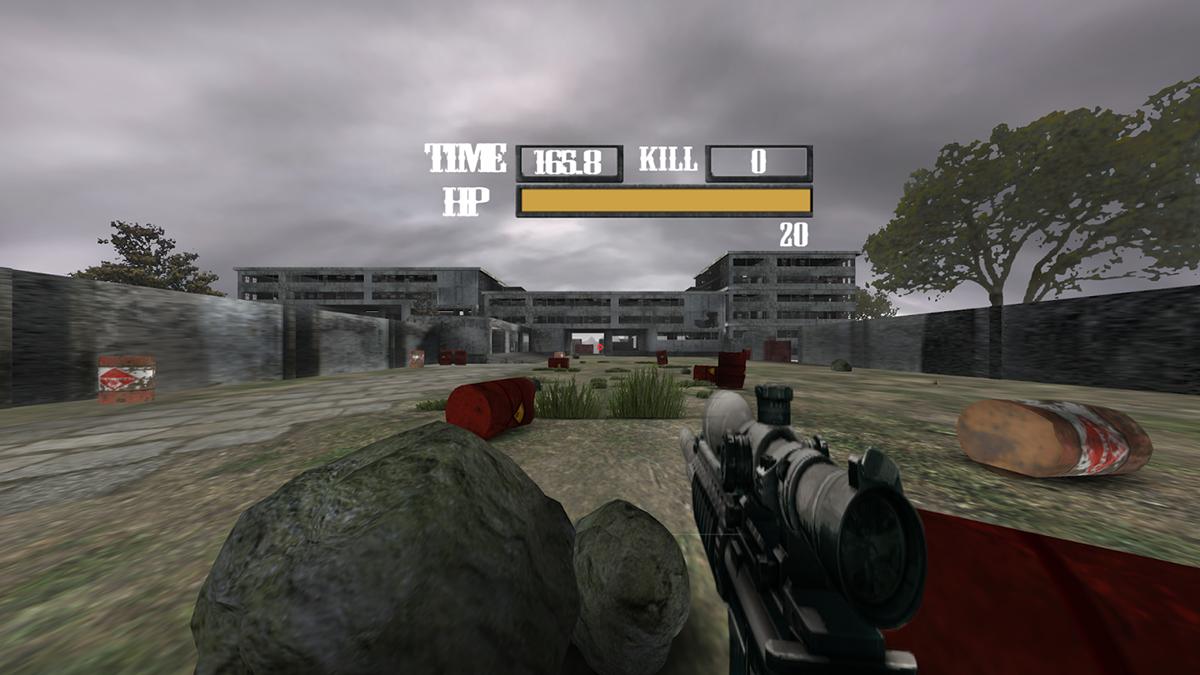 دانلود بازی تیراندازی واقعیت مجازی Sniper VR screenshot