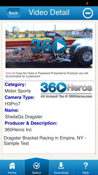 نرم افزار واقعیت مجازی فیلم 360Heros 360 Video Library screenshot