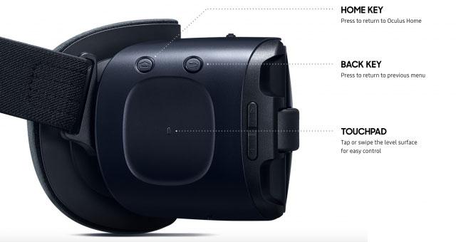 تاچ هدست عینک واقعیت مجازی سامسونگ samsung gear vr 2016