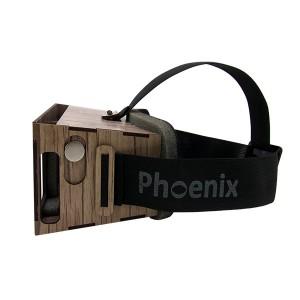 عینک واقعیت مجازی چوبی فونیکس لایت قهوه ای