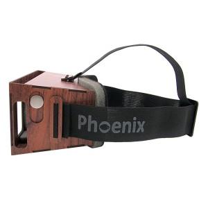 عینک واقعیت مجازی چوبی فونیکس لایت قرمز