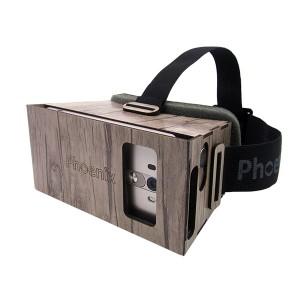عینک واقعیت مجازی چوبی فونیکس لایت قهوه ای از جلو