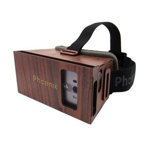 عینک واقعیت مجازی چوبی فونیکس لایت قرمز جلو