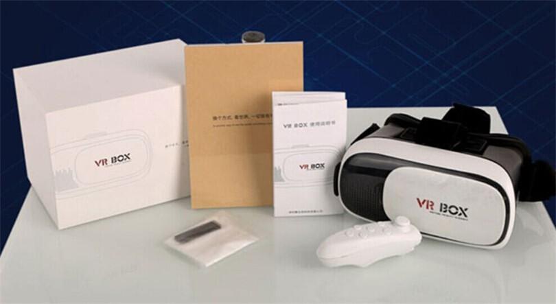بسته بندی هدست واقعیت مجازی VR Box 2 با دسته بلوتوث