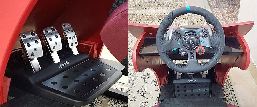 پدال و فرمان شبیه ساز رانندگی واقعیت مجازی VR Racing 2019
