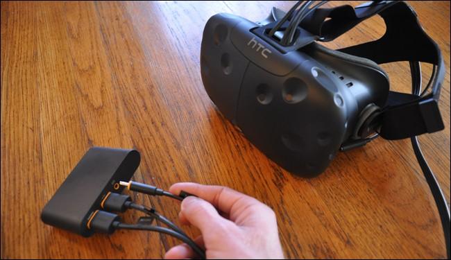 اتصال هدست واقعیت مجازی اچ تی سی وایو HTC vive به لینک باکس