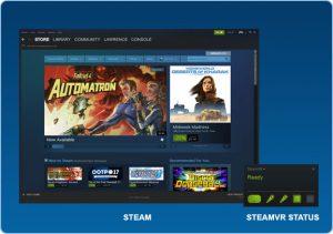 نرم افزار Steam و سپس Steam VR را نصب کنید