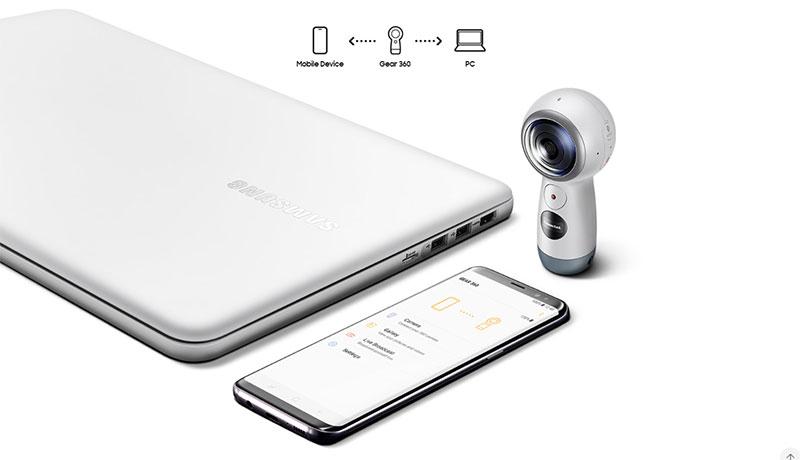 پشتیبانی دوربین واقعیت مجازی 360 درجه سامسونگ SAMSUNG Gear 360 2017