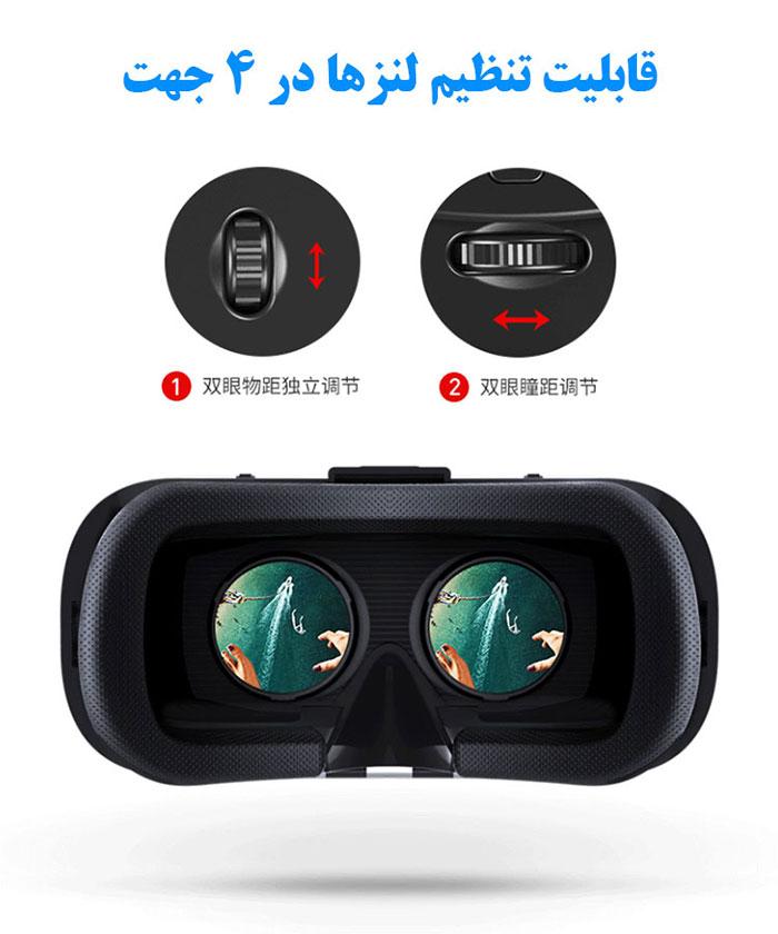 لنزهای عینک هدست هدست واقعیت مجازی وی آر شاینکن VR SHINECON 4