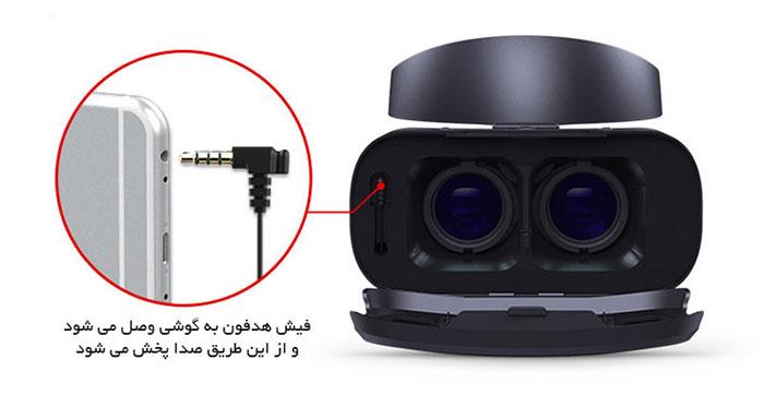 فیش هدست عینک عینک واقعیت مجازی وی آر شاینکن VR SHINECON 4