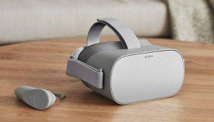 تصویر هدست واقعیت مجازی اکیولس گو Oculus Go با دسته