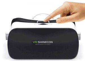 قابلیت تنظیم فاصله میان دو لنز عینک وی آر شاینکن VR SHINECON