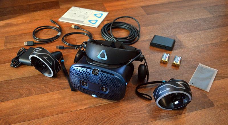 بازکردن عینک واقعیت مجازی اچ تی سی وایو کازموس HTC vive cosmos