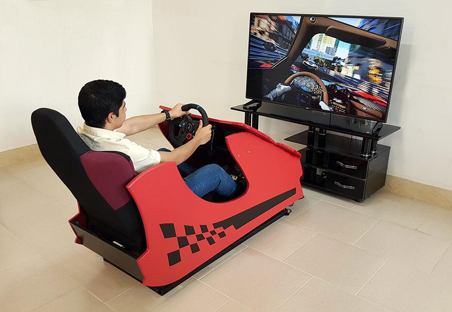 صندلی شبیه ساز رانندگی واقعیت مجازی مدل VR Racing 2020